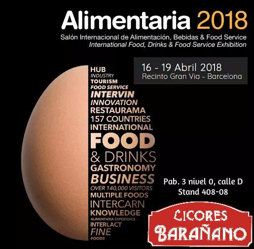 Licores Barañano vuelve a la feria Alimentaria 2018